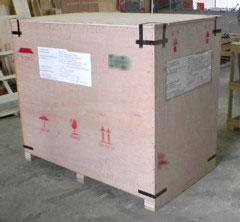 木製薫蒸処理を必要としないLVL材による梱包(すべて合板)