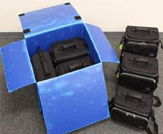 A式タイプのプラダン箱を保管箱として利用